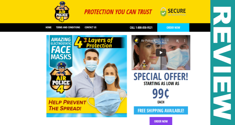 Air Police 4 Face Masks Official Site As Seen On TV