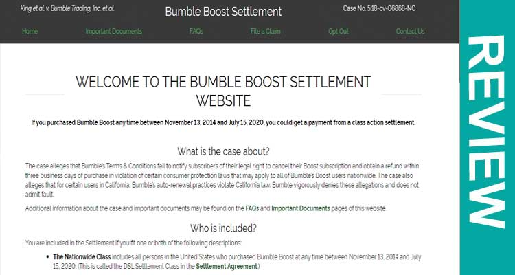 Bumble Boost Settlement Review2020