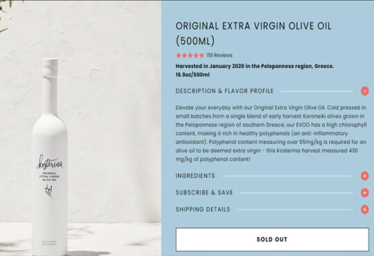 Kosterina Olive Oil Review