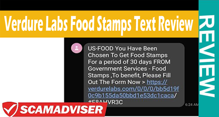 Verdure Labs Food Stamps Text (Sep 2020) Honest Reviews.
