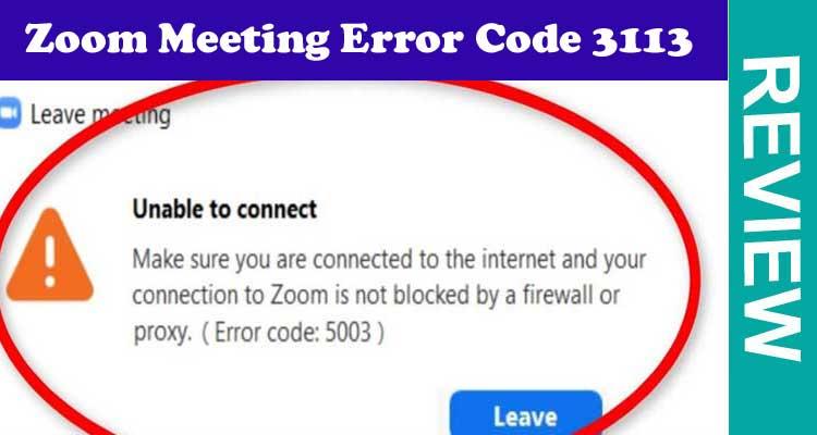 Zoom Meeting Error Code 3113